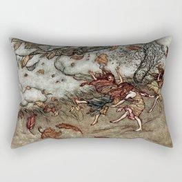 """""""Autumn Fairies"""" by Arthur Rackham Rectangular Pillow"""