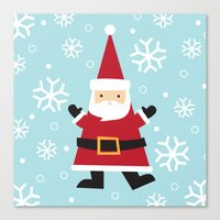 santa Canvas Prints featuring Santa by Claire Lordon