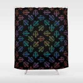 FLEUR DE LIS - seamless pattern black rainbow Shower Curtain