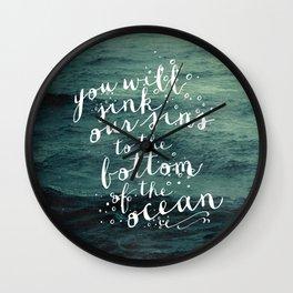 DEEPER THAN THE OCEAN Wall Clock