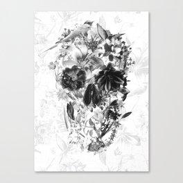 New Skull Light B&W Canvas Print