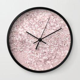 Blush Glitter Dream #1 #shiny #decor #art #society6 Wall Clock