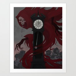 The Mask of the Red Death Art Print