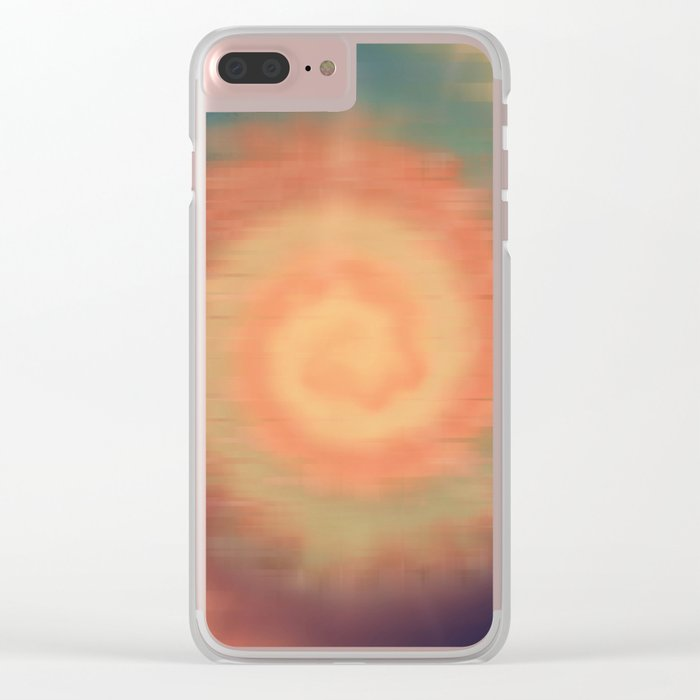 Tie Dye Sunset Clear iPhone Case