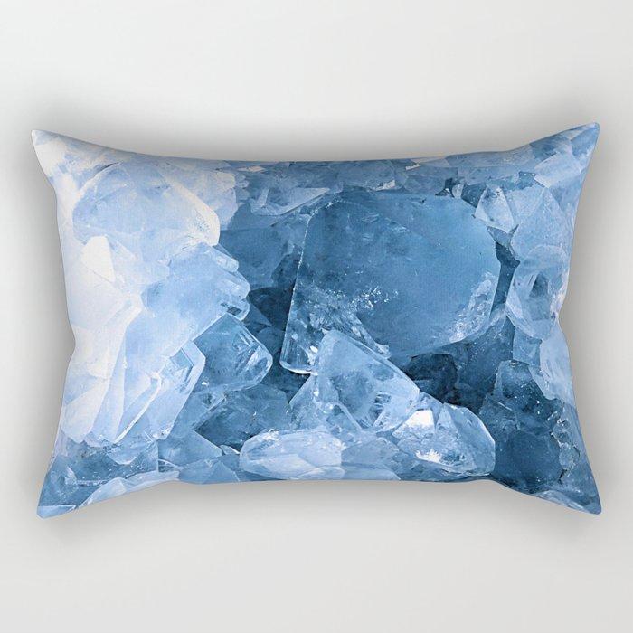 Celestite Blue Rectangular Pillow