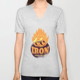 Iron fire fires me at bodybuilding fitness Unisex V-Neck