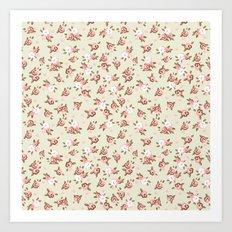 Pink English Roses Art Print