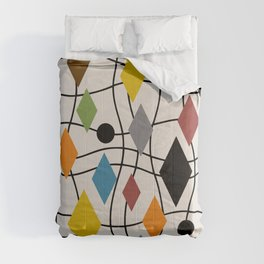 Colorful Mid Century Modern Geometric Abstract 121 Comforters
