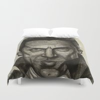 dracula Duvet Covers featuring Dracula by Colunga-Art