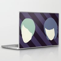 tegan and sara Laptop & iPad Skins featuring Tegan and Sarah by Drix Design