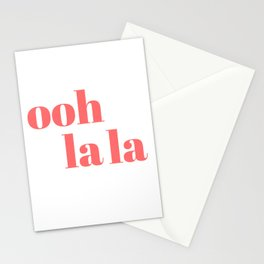 ooh la la V Stationery Cards
