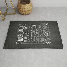 House Rules Retro Chalkboard Rug