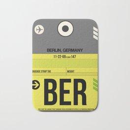 BER Berlin Luggage Tag 1 Bath Mat