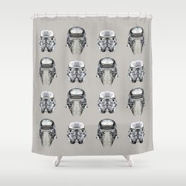 Black Stars (Diamond Edition) Shower Curtain