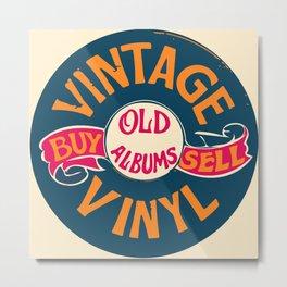 Vintage Vinyl, Old Album Metal Print