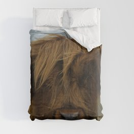 Highland Cow Face Comforters