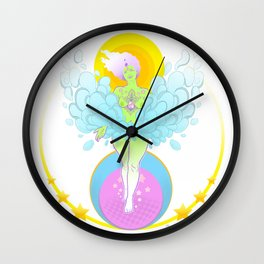 Goddess of Abundance Wall Clock