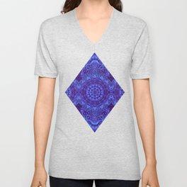 Indigo Mandala Unisex V-Neck