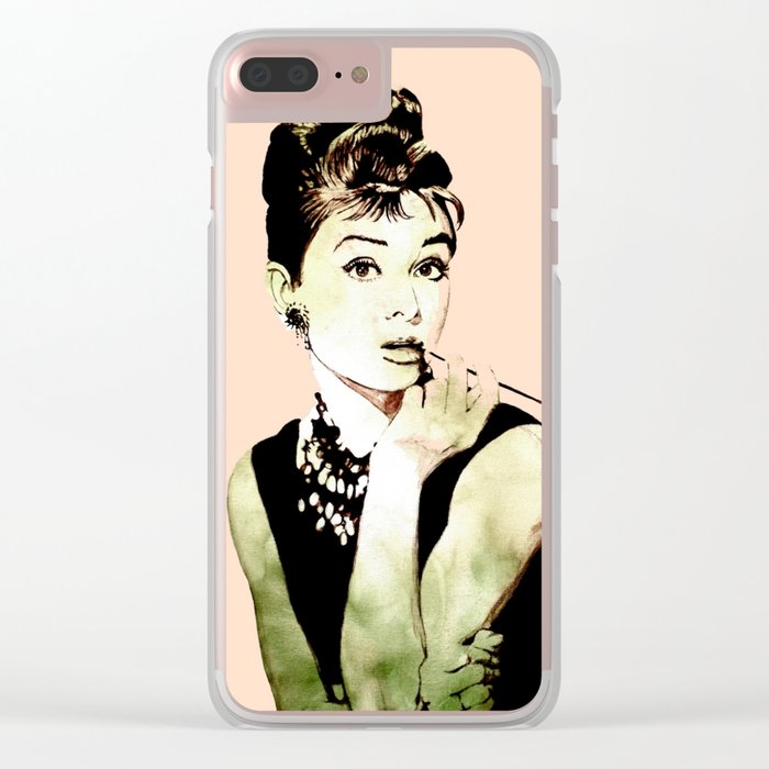 MISS GLOLIGHTLY - Breakfast at Tiffany´s - QUOTE Clear iPhone Case