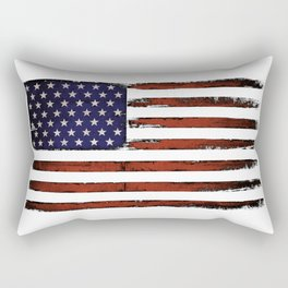 Grunge American flag Rectangular Pillow