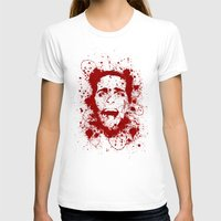 scary T-shirts featuring American Psycho by David