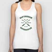 quidditch Tank Tops featuring Slytherin Quidditch Team Seeker: Green by Sharayah Mitchell