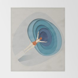 Dive Into Blue Throw Blanket