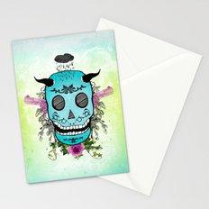 Rain Skull Stationery Cards