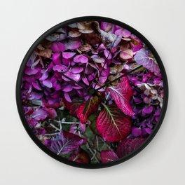 Holy Hydrangea VI Wall Clock