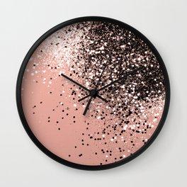 Cali Summer Vibes Lady Glitter #9 #shiny #decor #art #society6 Wall Clock