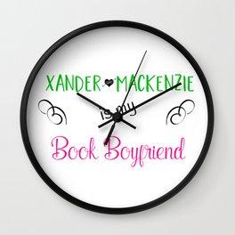 Xander Mackenzie Is My Book Boyfriend Wall Clock