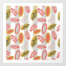 Happy Leaves  #society6 #buyart #decor Art Print