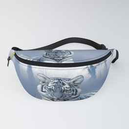 Blue White Tiger Fanny Pack