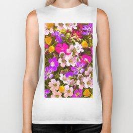Colorful meadow flowers #Society6 #buyart Biker Tank