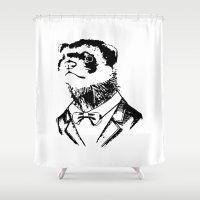 ferret Shower Curtains featuring Fancy Ferret by JK Designs