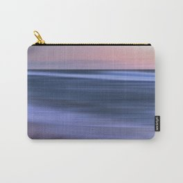 Pastel Purple Pink Sunset Beach Seascape Ocean Fine Art Scenic Colored Print Carry-All Pouch
