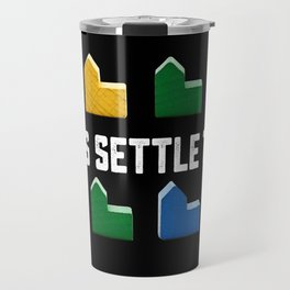 LET'S SETTLE THIS Settlers of Catan Game Travel Mug