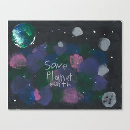 Save Planet Earth Canvas Print