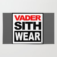 sith Area & Throw Rugs featuring Vader Sith Wear (white) by Ant Atomic