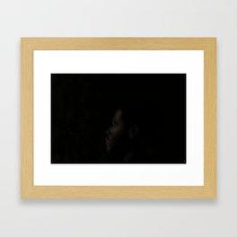 g a z e Framed Art Print