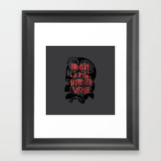 Iron is my maiden name. Framed Art Print