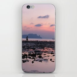 Crabbing at dawn iPhone Skin