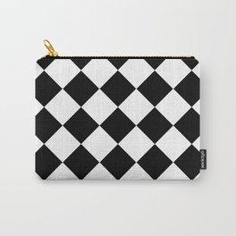Diamond Black & White Carry-All Pouch