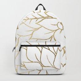 Gold faux foil chic floral elegant pattern Backpack