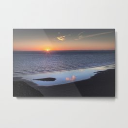 Rhossili Summer Solstice sunset 2018 Metal Print
