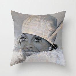 Diana Ross Throw Pillow