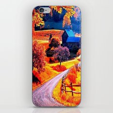 Farmhouse In Autumn iPhone & iPod Skin