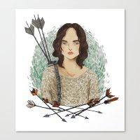 allison argent Canvas Prints featuring Allison Argent by strangehats