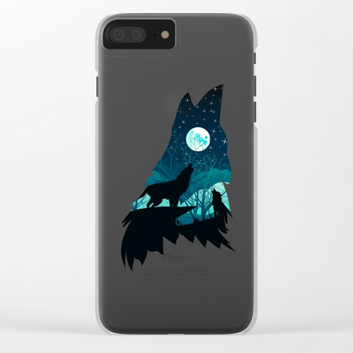 Wolf Home Clear iPhone Case