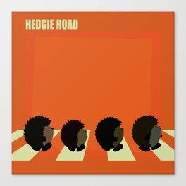 Hedgie road Canvas Print